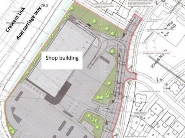 An overhead plan of the new Lidl site.