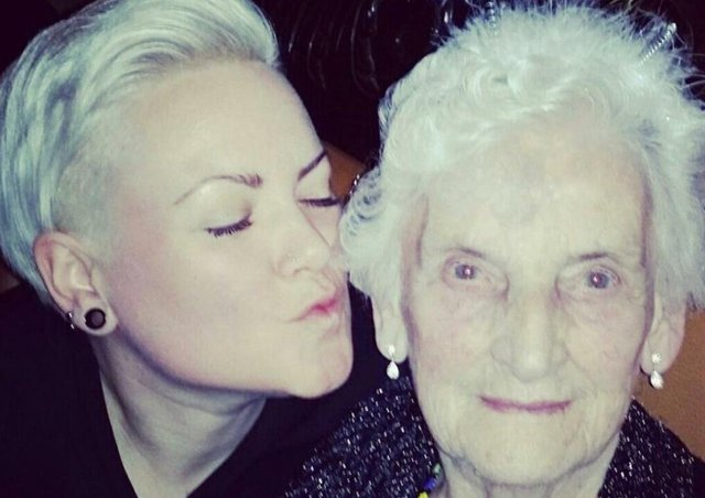 Laura with her grandmother in times gone by.