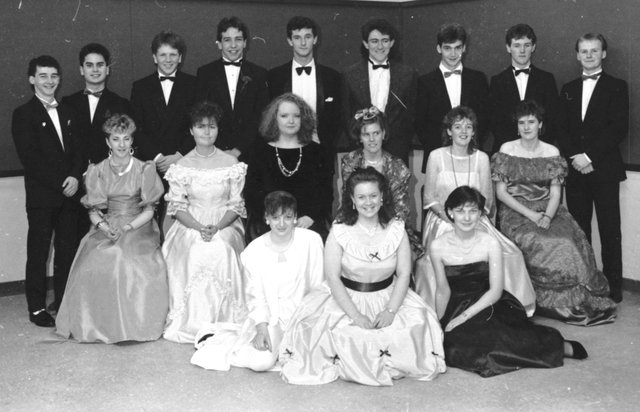 Standing from left are Seamus Wade, Peter Aquino, Ian Orr, Kieron Simpson, Lee Casey, Martin Holmes, Ronan Curley, Harry McCourt and Dermot McCloskey. Seated, centre, from left, are Marie Anderson, Siobhan Caskery, Susan McGoldrick, Ciara Doherty, Yvonne Young and Tracy Gillespie. Seated at front are Martina Doherty, Brenda Wilkinson and Deirdre Kelly.