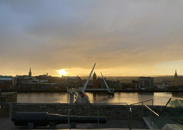 Sunset in Derry City.