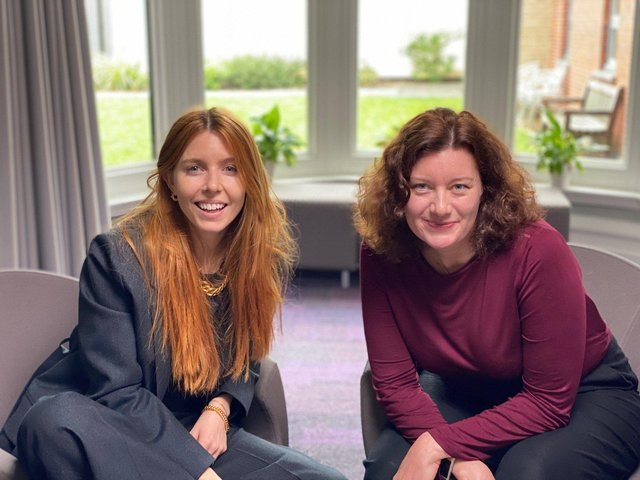 Stacey Dooley and Prof. Turi King