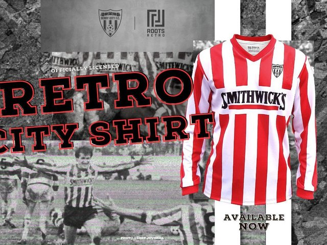 Derry City has teamed up with Roots Retro to promote its new 1986/87 throwback.