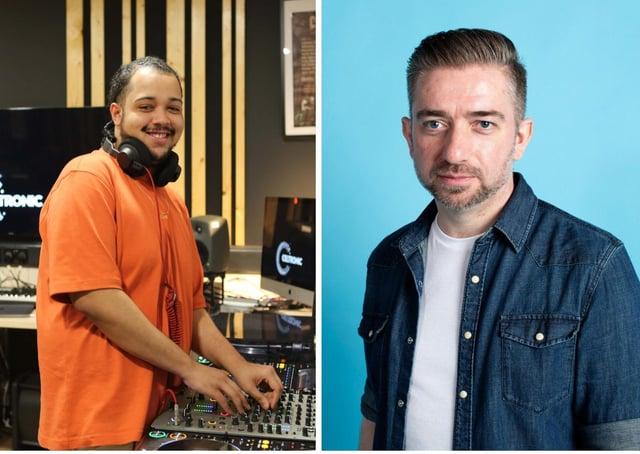 DJs Jordan Villa (left) and Stephen McCauley.
