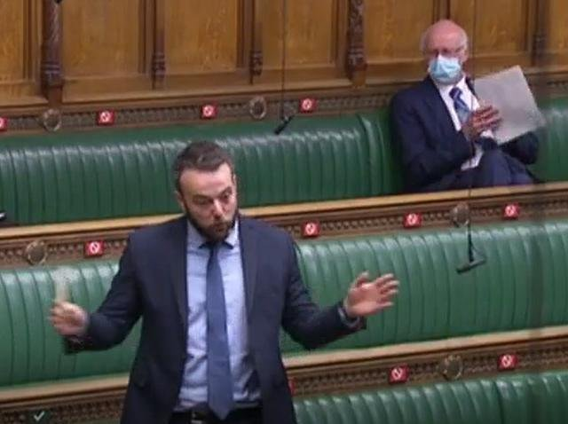 Colum Eastwood in the House of Commons today.