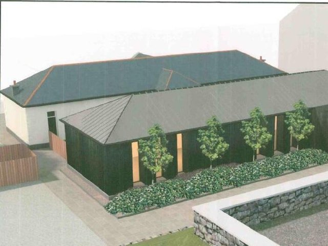An artist's impression of the visitor centre.