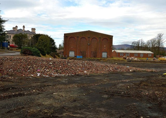 Ongoing demolition work at the old Foyle College senior school on the Duncreggan Road. DER2108GS – 027
