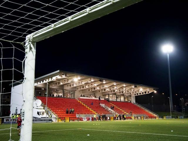 Derry City FC's traditional home, the Ryan McBride Brandywell Stadium.