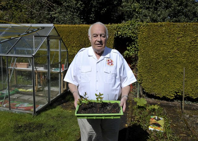Foyle Search and Rescue volunteer Bill McElhinney pictured in his garden by the Journal back in 2016. DER1716GS016