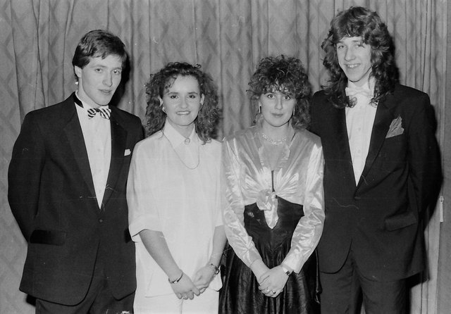 Pictured at the first ever formal organised by the North West College of Technology (Strand Road), Derry, are, from left, John Crilly, Maria Cassidy, Natalie Mailey and Curtis Cunningham.