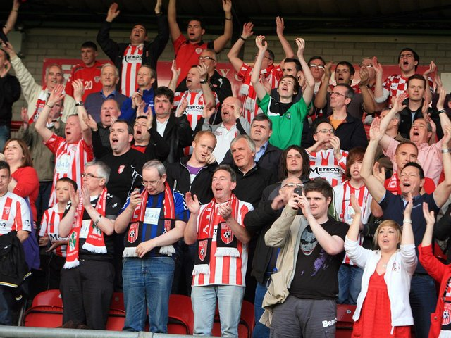 Derry City supporters.
