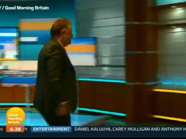 Good Morning Britain presenter Piers Morgan storms of set during discussion on Prince Harry and Meghan Markle interview with Oprah Winfrey.