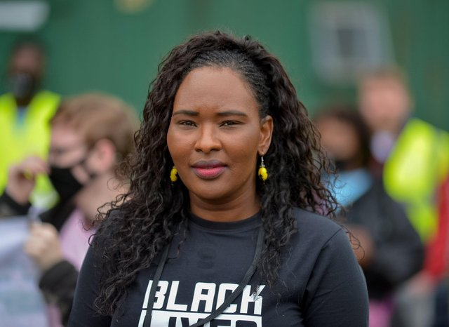 Lilian Seenoi-Barr, NWMF director of programmes, pictured at the North West Migrants Forum 5k Community Walk Towards Racial Equality held in St Columb's Park last year. DER2030GS - 018