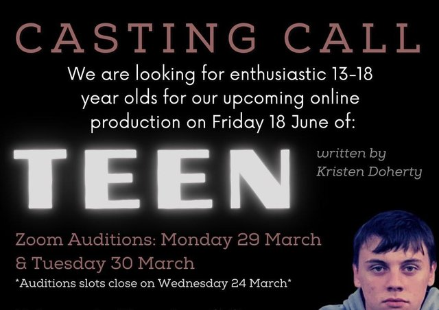 Casting call for upcoming online production