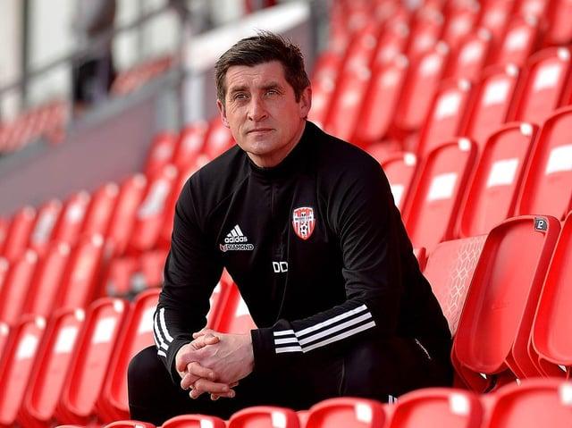 Declan Devine, Derry City manager.
