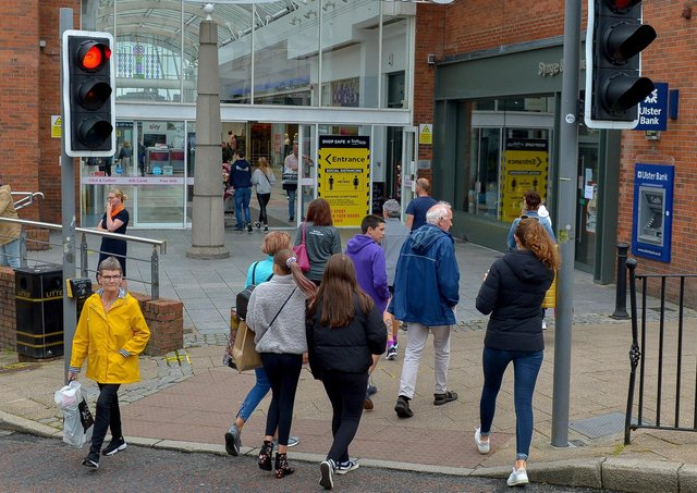 Shoppers in Derry's city centre (file picture). DER2027GS - 017