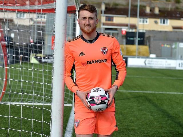 Derry City goalkeeper Nathan Gartside.