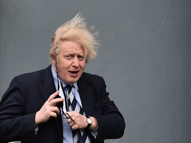 Prime Minister Boris Johnson pictured during his visit to Northern Ireland last week. (Photo: PA Wire)