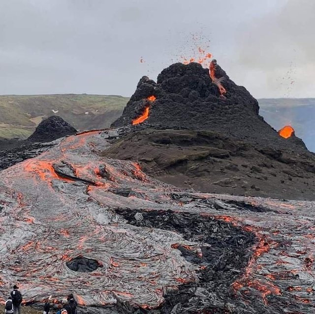 The volcano erupted last weekend after thousands of earthquakes in the area.