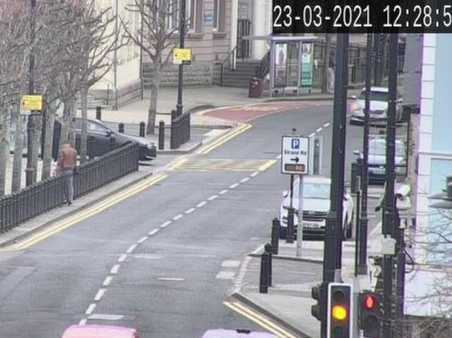 Strand Road reopened shortly after noon.