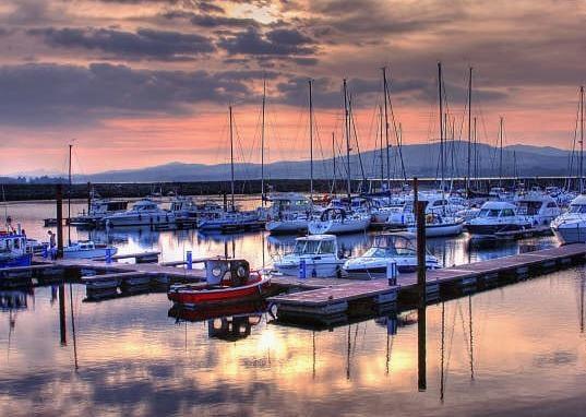 The marina at Fahan. FF Senator Niall Blaney says more should be built. Donegal.