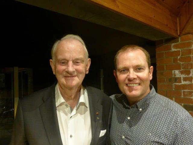 Dr Tom McGinley and his son Ciaran