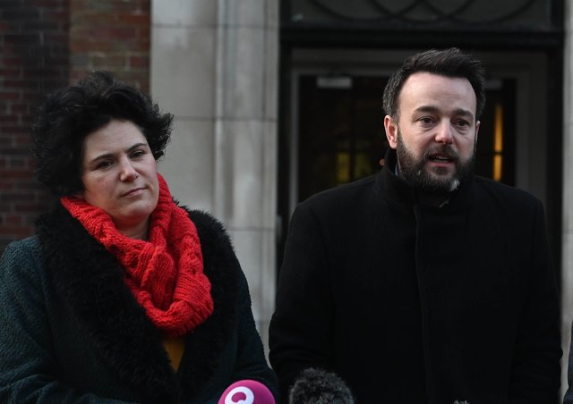 Claire Hanna with fellow SDLP MP Colum Eastwood.