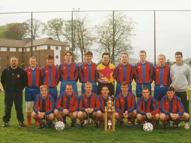 The Magee University team which won the Irish Universities' League title in 1997, the only time in history the Derry college claimed the prestigious title.