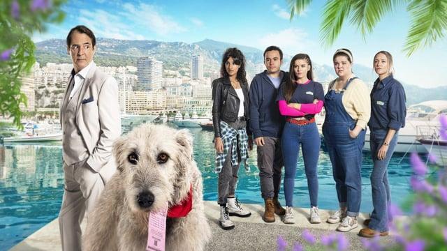 Frank, Duke, Roxy, Jake, Keeley, Gemma and Colette
