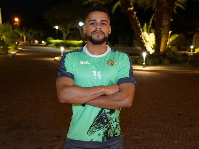 Kaleem Simon pictured following a training session with the Montserrat squad before a 2-2 draw with Antigua and Barbuda last week. Picture by Montserrat F.A.