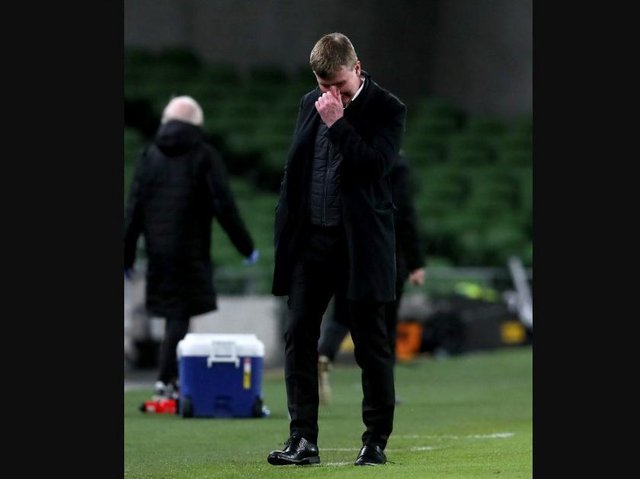 Ireland manager Stephen Kenny after the defeat to Luxembourg.