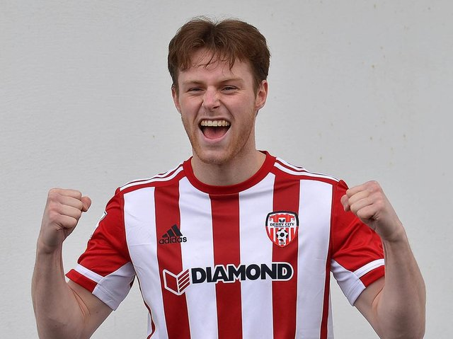 Cameron McJannet scored his first goal for Derry City, in Saturday night's loss to Waterford.