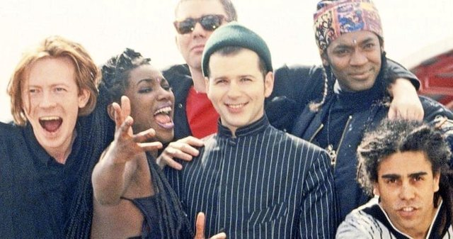 Back in the day... Peter Cunnah (centre) and the D:Ream crew.