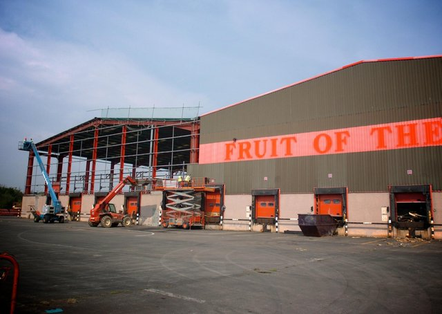 Fruit of the Loom was previously located on the site.