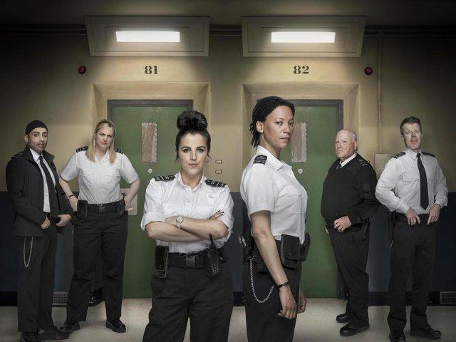 Jamie-Lee O'Donnell alongside the rest of the cast of the new TV series.