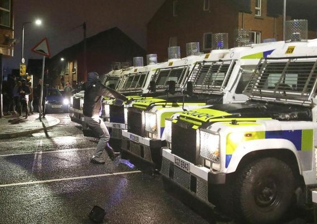 Confrontations between unionists and the PSNI in the Shankill area.