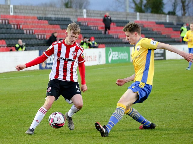 Ciaron Harkin pictured on the ball against Longford, has full belief that Derry City can turnaround their fortunes. Pictured by Kevin Moore.