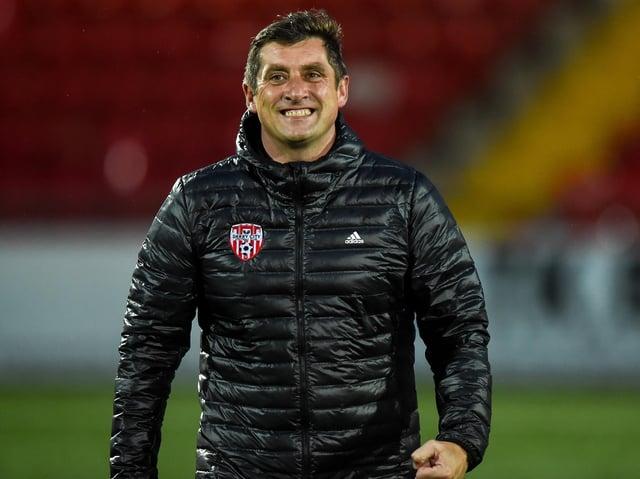 Derry City manager Declan Devine.