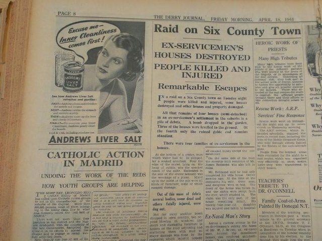 How the 'Journal' reported the bombing in 1941.