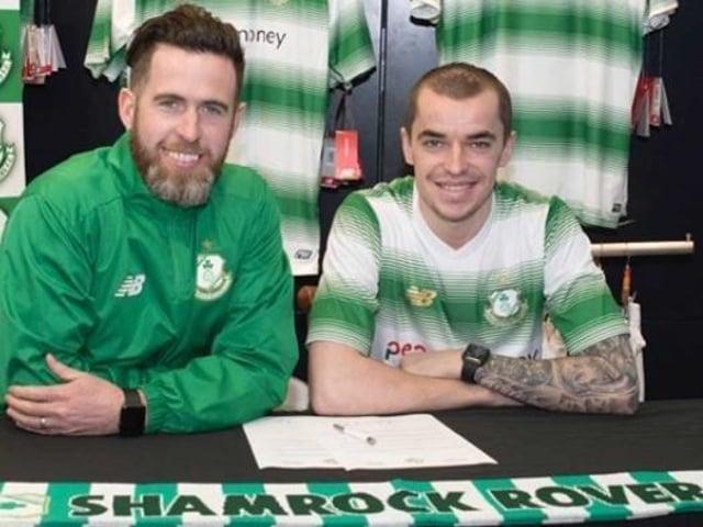 Sean Kavanagh pictured alongside Shamrock Rovers manager Stephen Bradley in 2018.