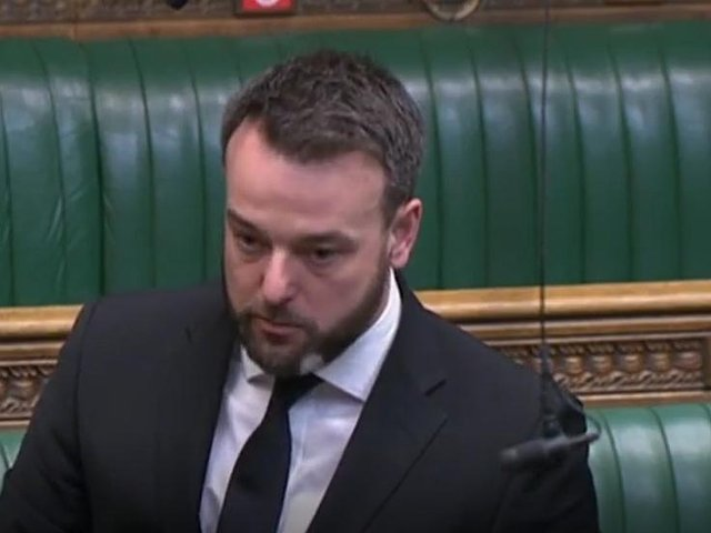 Colum Eastwood in the British House of Commons this afternoon.