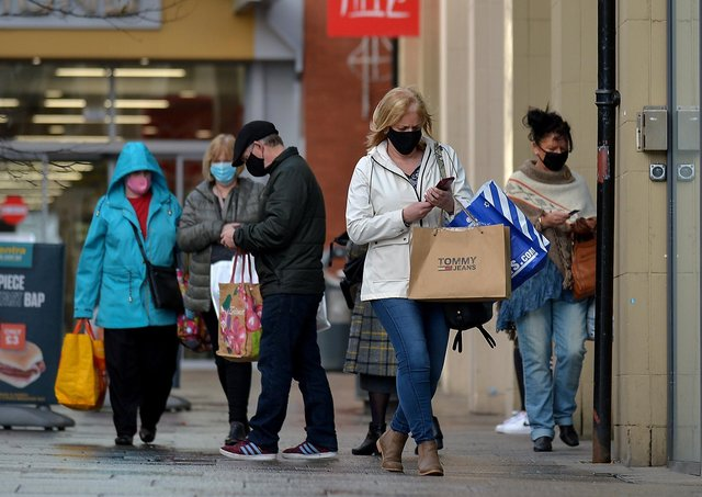 Shoppers in Derry's city centre during 2020 before the latest lockdown.  Photo: George Sweeney  DER2047GS - 003