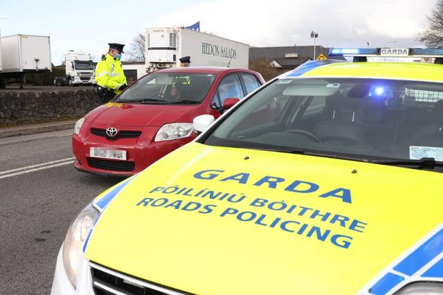 Garda patrol on the border.Photo Stephen Davison/Pacemaker Press