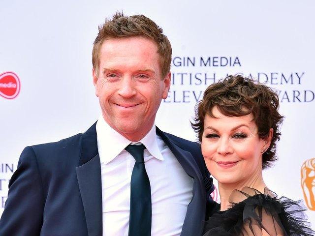 Helen McCrory and husband Damian Lewis - they were wed in 2007 and have a young son and daughter together.