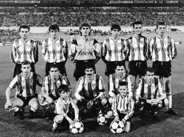 Derry City side which lost to Benfica in the European Cup in 1989.