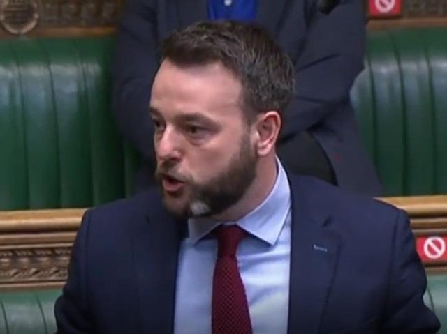 Colum Eastwood speaking in the British House of Commons this morning.