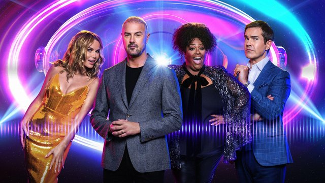 Host Padd and Celebrity Investigators, Jimmy Carr, Alison Hammond, Paddy McGuinness and Amanda Holden
