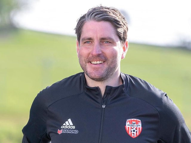 New Derry City manager Ruaidhri Higgins has been tipped for success at Brandywell.Photograph by JOE BOLAND.