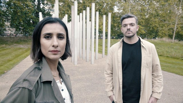 Karl was a passenger on the first carriage of the Piccadilly Line London Underground train - one of the four targets of the 7/7 bombings - and has been looking for the mystery woman who comforted him in the dark smoke-filled carriage. Pictured with Anita Rani