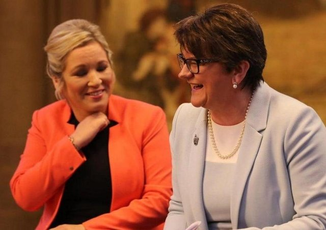 Arlene Foster with Michelle O'Neill