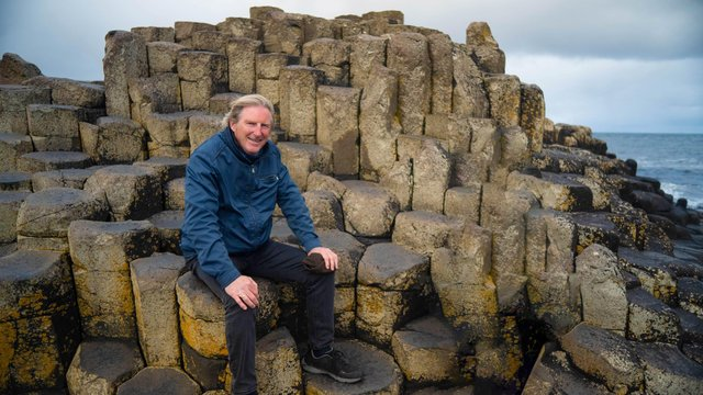 Line of Duty actor Adrian Dunbar at the Giant's Causeway